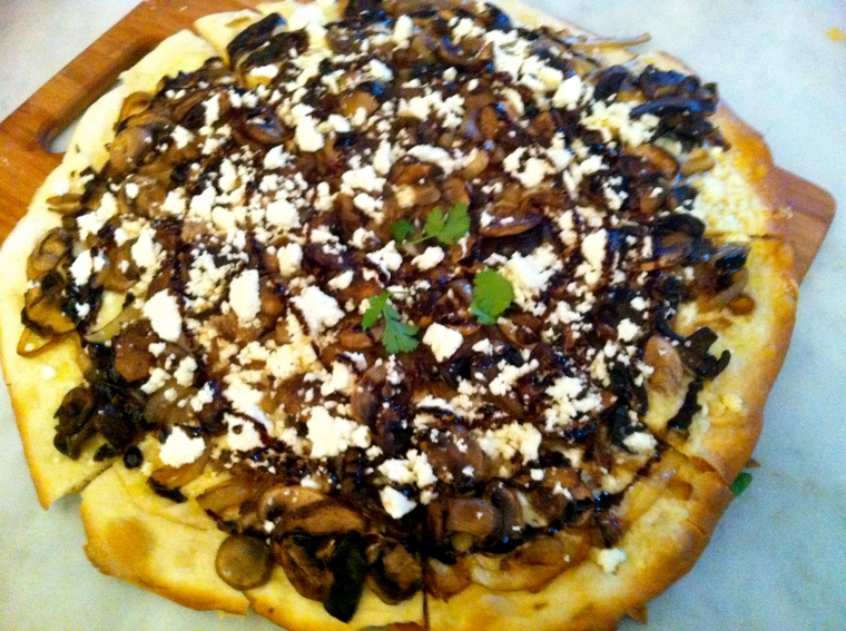 topped with balsamic glaze